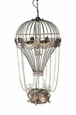 "Vintage Replica Hot Air Balloon Ceiling Lamps 41"" Hanging Metal Model Assembled"