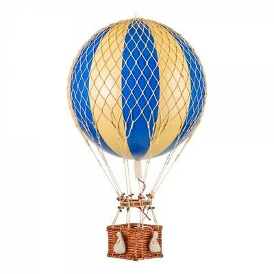 "Blue And White Striped Hot Air Balloon 22"" Model Hanging Aviation  Decor"