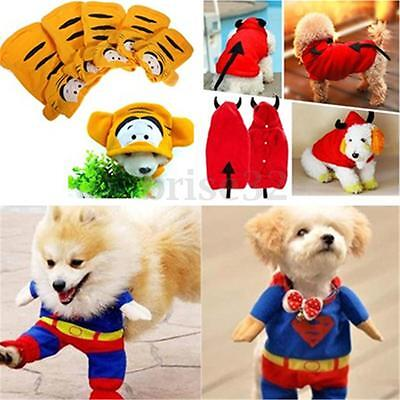 Pet Cat Dog Puppy Warm Clothes Costume Jumpsuit Superman Batman Coat Apparel