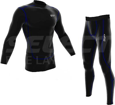 Select Mens Compression Thermal Baselayer Top and Legging Running Skin Fit