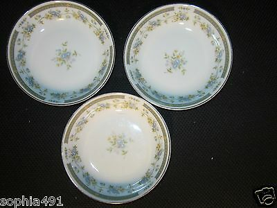 Lot of 3 Vtg Four Crown China Fruit/ Dessert 5 3/8 inch Bowls  Barclay Pattern