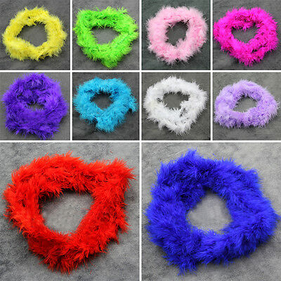 Hot Sale 2M Marabou Feather Boa Fancy Dress Party Burlesque Cosplay Crafts KN