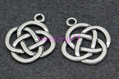 Charm pendant Tibetan silver Celtic knot  fit bracelet necklace 15/50pcs #1