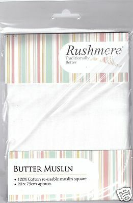 Rushmere Traditional Cotton Reusable Butter Muslin Square 90 x 75 cm 1331-P