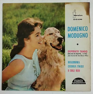 "Domenico Modugno Disperato Tango Single 7"" España original 1964"