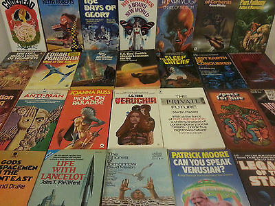 Collection of 42 Vintage Science Fiction & Fantasy Books - Various Authors