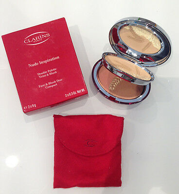 Clarins Nude Inspiration Double Palette Teint Blush Face Duo Compact Fard