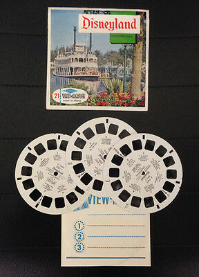 View Master Disneyland California Stereodisco Reel Rells 21 3D Pictures Vintage
