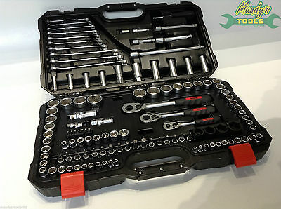 "Hilka 120 Pce 1/4"" 3/8"" & 1/2"" Drive Socket Wrench Set Chrome Vanadium 01120003"