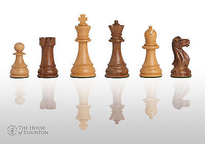 """The Windsor Chess Set - Pieces Only - 3.875"""" King - Golden Rosewood"""