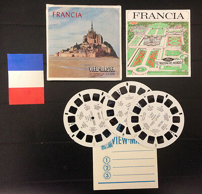 View Master Francia France Stereodisco Reel Rells 21 3D Pictures Vintage