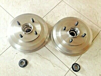Ford Fiesta Mk 6 02-07 Two Rear Brake Drums/fitted Bearings+Lock Nuts  Brand New