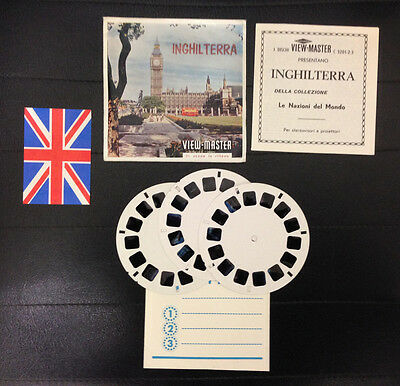 View Master Inghilterra England Stereodisco Reel Rells 21 3D Pictures Vintage