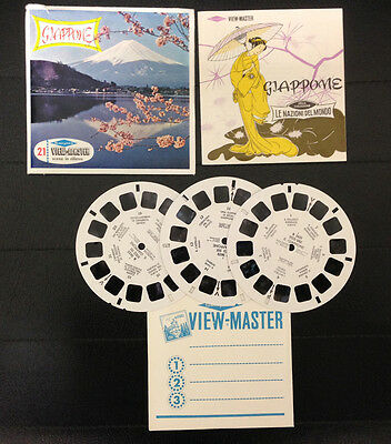 View Master Giappone Japan Stereodisco Reel Rells 21 3D Pictures Vintage