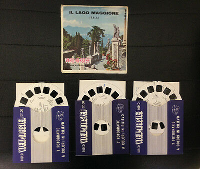 View Master Lago Maggiore Lake Stereodisco Reel Rells 21 3D Pictures Vintage