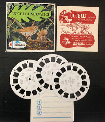 View Master Uccelli Selvatici Bird Stereodisco Reel Rells 21 3D Pictures Vintage