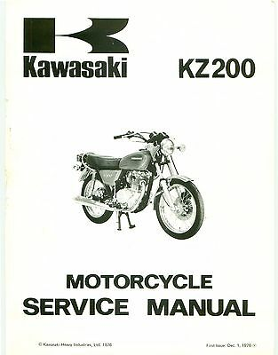 Kawasaki service manual 1977 KZ200