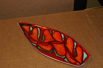 Mid Century Poole Pottery Delphis Large Spear Dish Abstract No 82