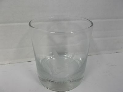 Imported Canadian Mist Whiskey Glass with etched Geese