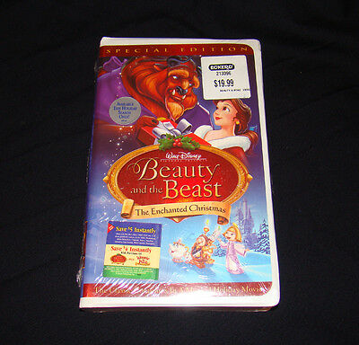 disney beauty and the beast an enchanted christmas vhs