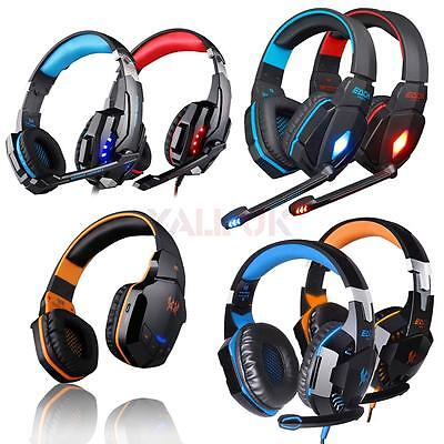 KOTION EACH Wired/Wireless Stereo Gaming Headsets Headphones w/mic for PC Laptop