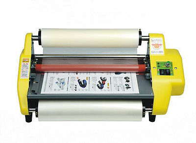 "13"" A3 Four Rollers Hot & Cold Roll Laminating Machine 335mm Laminator 220V 50Hz"