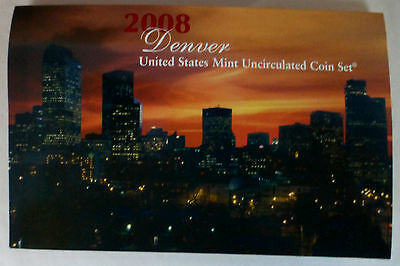 2008 Denver - United States Mint Uncirculated Coin Set (O/s)