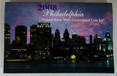 2008 Philadelphia - United States Mint Uncirculated Coin Set (O/s)