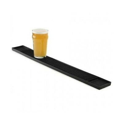 AZ SELLER Tablecraft Rubber Bar Mat Black 60x8cm Rubber Mat Drip Mats Bar Runner