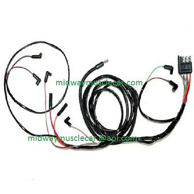 65 ford mustang v8 engine gauge feed wiring harness 1965 260 289 63 ford falcon v8 engine gauge feed wiring harness 1963 221 260 289