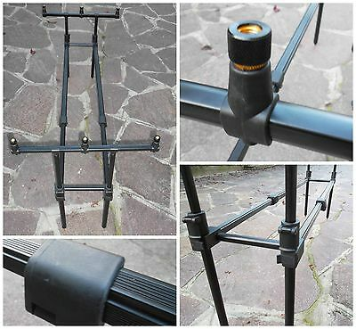 Kkarp Rod Pod Carpfishing Expedition 3 Posti Doppio Binario Centrale Regolabile