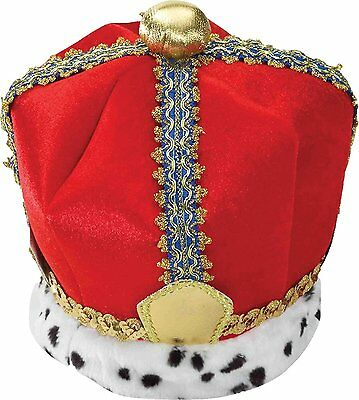 Velvet King Crown Adult-Red / One-Size