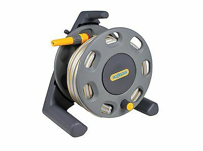 Hozelock Compact Hose Reel with 25m of Yellow Hose