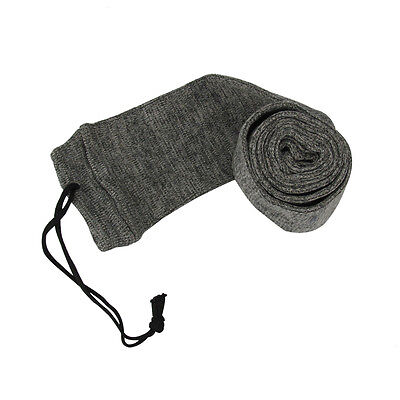 "Tourbon Silicone Treated Gun Sock Sleeve 52"" Rifle/Shotgun Shoot Bag Slip Grey"