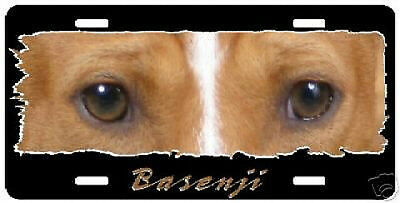 "Basenji "" The Eyes Have It "" License Place"
