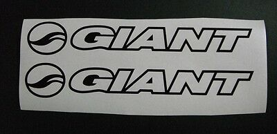 Giant Outline vinyl sticker / decal pair 305mm x 46mm in plain colours