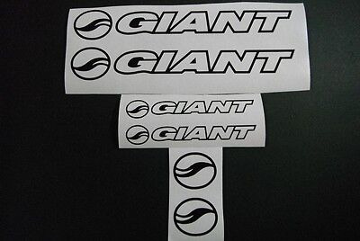 Giant Outline vinyl sticker / decal restore or repaint pack 6pc in plain colours