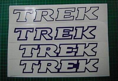 Trek Outline style vinyl cut sticker / decal pair, in BLACK or choose a colour.