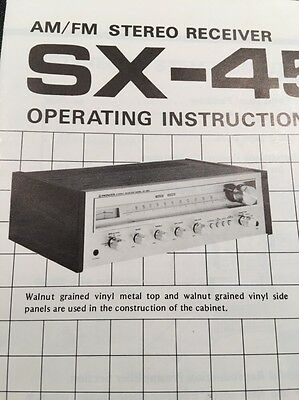 Pioneer SX-450 Stereo Receiver Original Owners Manual 10 Pages