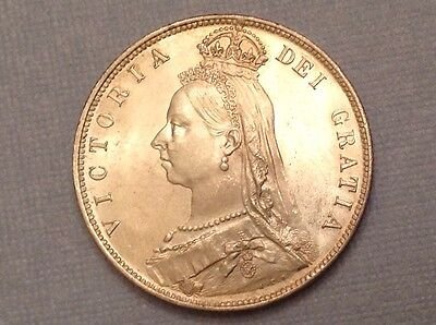 - 1890 Great Britain One Half 1/2  Crown Victoria jubilee uncirculated
