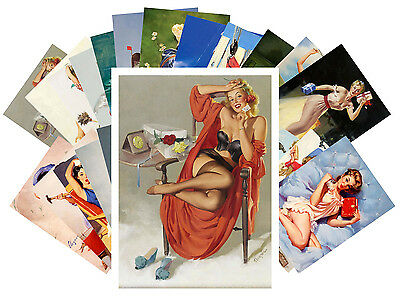 Postcards Pack [24 cards] Classic Pin Up Girls Elvgren Sexy Vintage CD3014