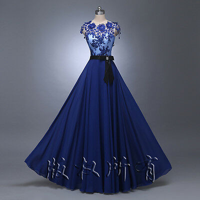 New long bridesmaid prom Formal dress Evening Cocktail Party Ball Gown