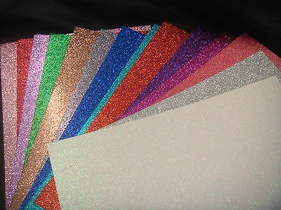 .A4 Glitter Card 17 Assorted Colours Premium 220gsm Card mix and match