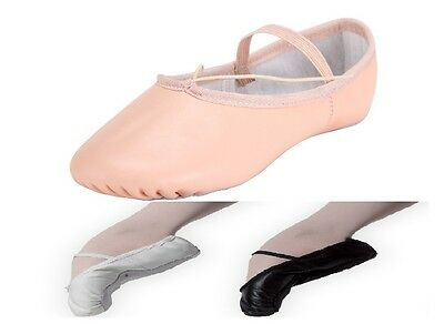 Leather Ballet Shoes Full Sole Adult's and Children's Sizes