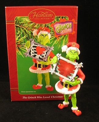 """THE GRINCH WHO LOVED CHRISTMAS ""  GRINCH Ornament Dr. Seuss RARE NEW  Carlton"