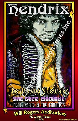 Poster of  Hendrix  by Cadillac Johnson