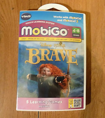 VTECH MOBIGO Learning Software Disney Brave Logic & Spelling +5 Games 80-252603
