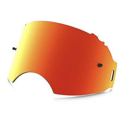 Oakley NEW Mx Airbrake Goggles Motocross Red Fire Iridium Replacement Lens