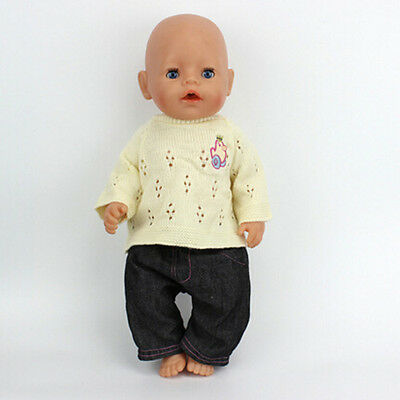 1set=sweater+jeans Doll Clothes Wearfor 43cm Baby Born zapf (only sell clothes )