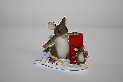 Charming Tails Measuring Mouse You Always Measure Up Signed